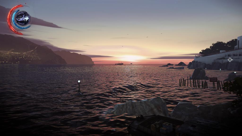 Sonnenuntergang am Hafen | Bild: Arkane Studios / Bethesda Softworks [Dishonored 2: Das Vermächtnis der Maske]