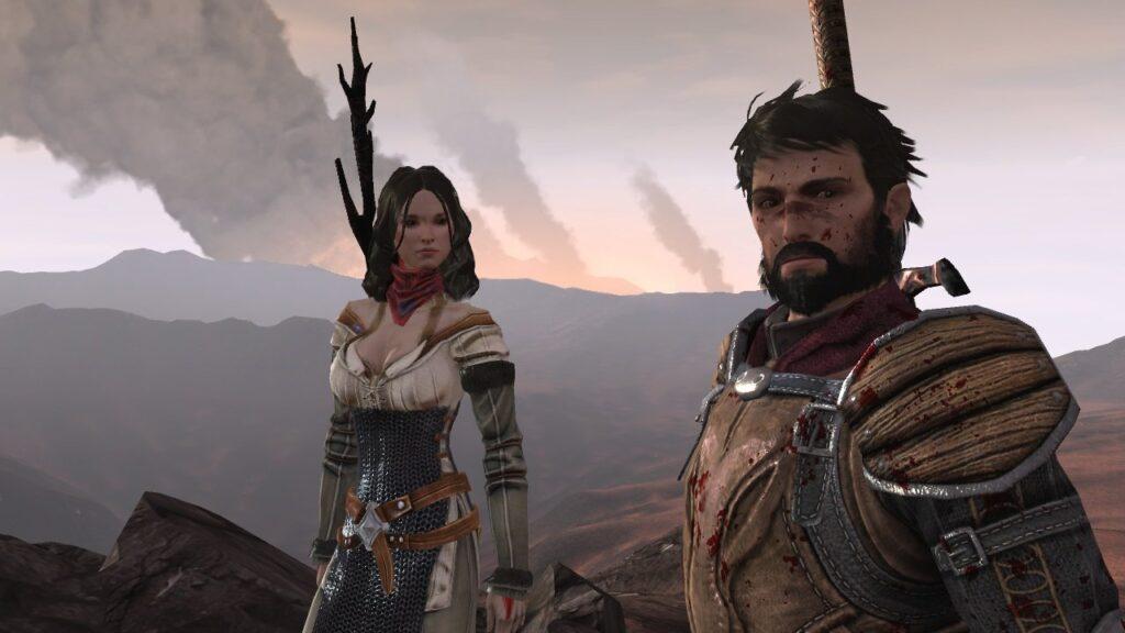 Hawke in Dragon Age 2 (rechts) | Bild: EA / Bioware