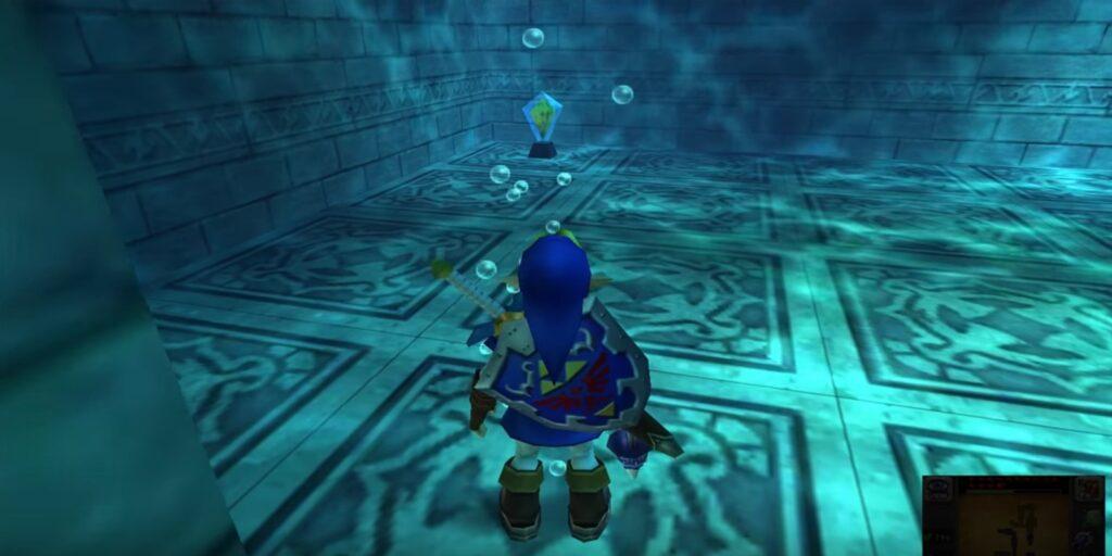 Kognitive Arbeit im Wassertempel. | Bild: Nintendo